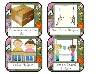 Classroom Helper Labels Jungle Theme