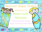 Classroom Helper Pockets for the Beach Lovin' Classroom