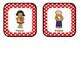 Classroom Helper and Job Cards Red and White Polka Dot