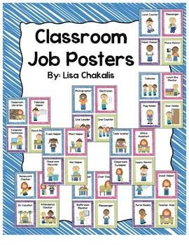 Classroom Helper and Job Posters