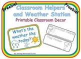 Classroom Helper and Weather Station Printables
