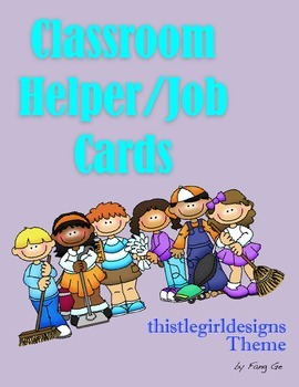 Classroom Helper/Job Cards - ThistleGirl Design Theme (English)