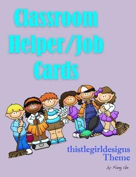 Classroom Helper/Job Cards - ThistleGirl Design Theme (English)