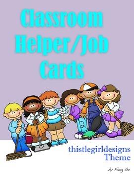 Classroom Helper/Job Cards - ThistleGirl Design Theme (Sim