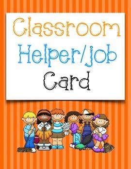 Classroom Helper/Job Cards - ThistleGirl Design Theme (Tra