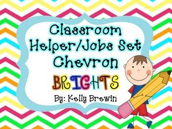 Classroom Helper/Jobs--Chevron Brights Set