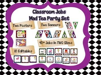 Classroom Helper/Jobs--Mad Tea Party Set