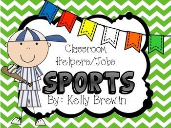 Classroom Helper/Jobs--{SPORTS} Set