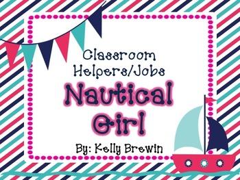Classroom Helper/Jobs--Nautical Girl Set