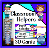 Classroom Helpers Word Cards