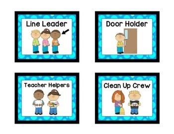 Classroom Helpers - BLUE