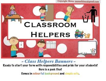 Classroom Helpers Banner