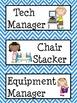 Classroom Helpers- Blue Chevron