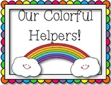 Classroom Helpers Board (Rainbow)