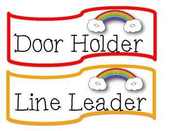 Classroom Helpers Board (Rainbow)