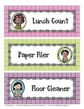 Classroom Helpers Bulletin Board Set #2