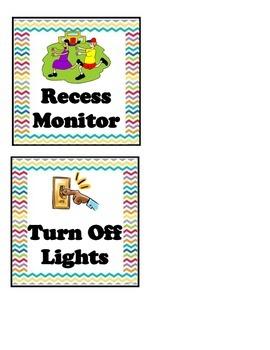 Classroom Helpers Chart