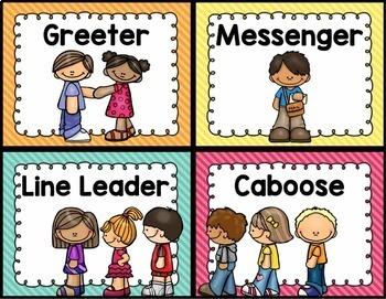 Classroom Helpers Chart - Editable {Brights Classroom Set}