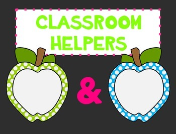 Classroom Helpers Chart by number