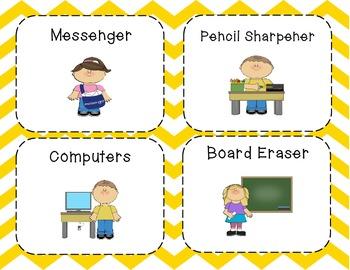 Classroom Helpers-Chevron Colors