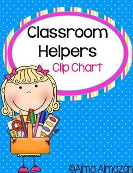 Classroom Helpers Clip Chart