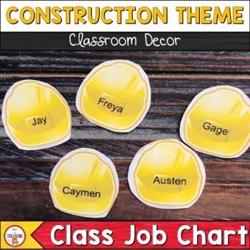 Classroom Helpers-Construction Theme
