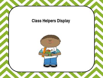 Classroom Helpers Display