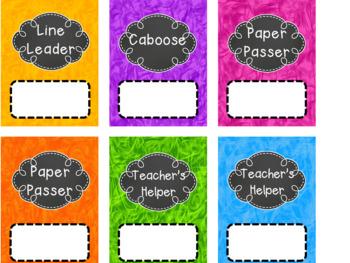 Classroom Helpers {{Editable}}