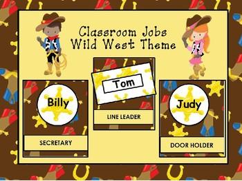 Classroom Helpers Editable - Wild West Theme