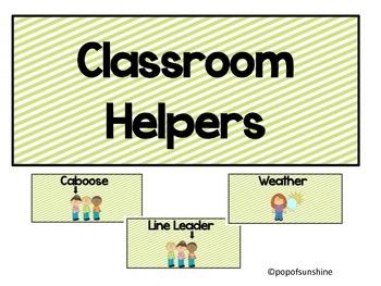 Classroom Helpers Freebie