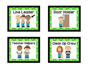 Classroom Helpers - GREEN