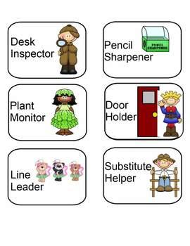 Classroom Helpers Jobs Icons
