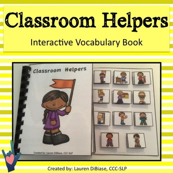 Classroom Jobs - Interactive Vocabulary Book