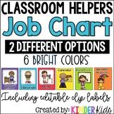 Classroom Helpers Job Chart **EDITABLE-clip labels**