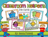Classroom Helpers {Job Cards with 48 different jobs}