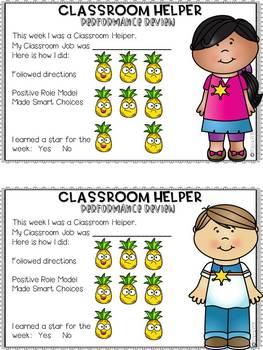 Classroom Job Chart