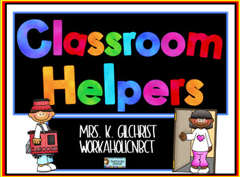 Classroom Helpers Job Chart - Promethean ActivInspire File