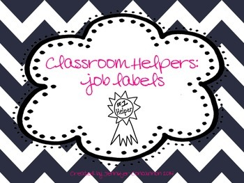 Classroom Helpers: Job Labels