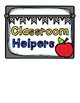 Classroom Helpers/Jobs Signs