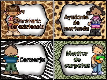 Classroom Helpers: Jungle Theme - ***Also in Spanish!