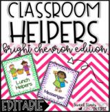 Classroom Jobs Chevron Edition EDITABLE