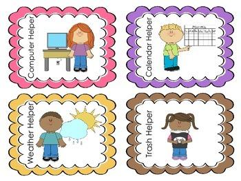 Classroom Helpers Labels- FREEBIE