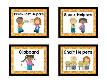 Classroom Helpers - ORANGE