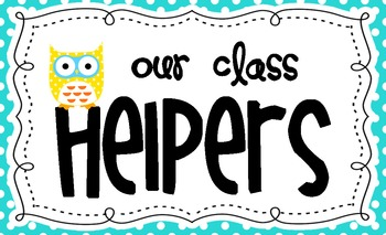 Classroom Helpers Owl and Kids Plus Clothespin Pencils