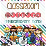 Classroom Helpers TGD Set {Editable}