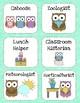 Classroom Helpers - Pastel Owls