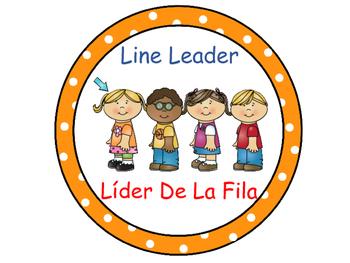 Classroom Helpers Polka Dot Theme (Orange