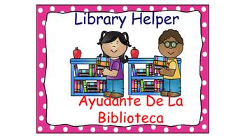 Classroom Helpers Polka Dot Theme (Pink)