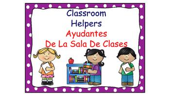 Classroom Helpers Polka Dot Theme (Purple)