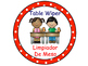Classroom Helpers Polka Dot Theme (Red)